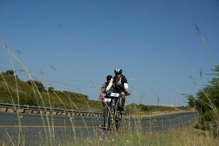 ABC bike and hike challenge - Biker rides in the fast lane.